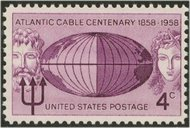 1112 4c Atlantic Cable F-VF Mint NH Plate Block of 4 1112pb