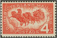 1120 4c Overland Mail F-VF Mint NH 1120nh