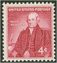 1121 4c Noah Webster F-VF Mint NH 1121nh