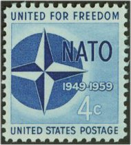 1127 4c N.A.T.O. F-VF Mint NH 1127nh