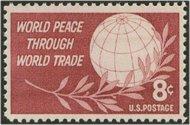 1129 8c World Peace/Trade F-VF Mint NH 1129nh