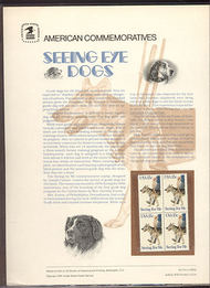 1787 15c Seeing Eye Dogs USPS Cat. 113 Commemorative Panel cp113