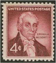 1138 4c Ephram McDowell F-VF Mint NH 1138nh