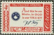 1142 4c CREDO-Francis S.Key F-VF Mint NH 1142nh