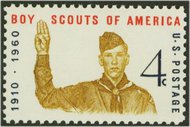 1145 4c Boy Scout Jubilee Used 1145used