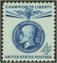 1147 4c Thomas G. Masaryk F-VF Mint NH 1147nh
