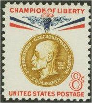 1148 8c Thomas G. Masaryk F-VF Mint NH 1148nh
