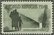 1149 4c Refugee Year F-VF Mint NH Plate Block of 4 1149pb