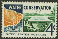 1150 4c Water Conservation F-VF Mint NH 1150nh