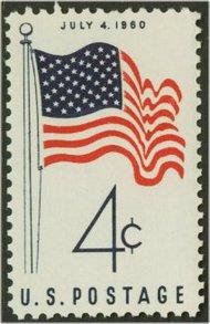 1153 4c 50 Star Flag F-VF Mint NH 1153nh