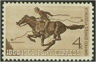 1154 4c Pony Express F-VF Mint NH 1154nh
