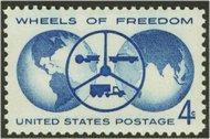 1162 4c Wheels of Freedom F-VF Mint NH 1162nh