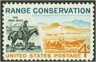 1176 4c Range Conservation F-VF Mint NH Plate Block of 4 1176pb