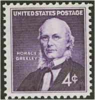 1177 4c Horace Greeley F-VF Mint NH Plate Block of 4 1177pb