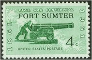 1178 4c Fort Sumter F-VF Mint NH 1178nh
