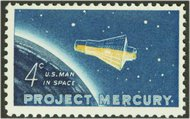 1193 4c Project Mercury F-VF Mint NH 1193nh