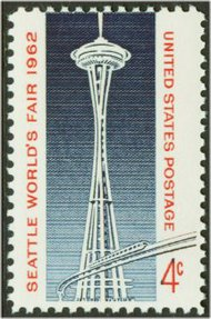 1196 4c Seattle Fair F-VF Mint NH Plate Block of 4 1196pb