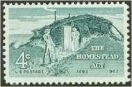 1198 4c Homestead Act F-VF Mint NH Plate Block of 4 1198pb