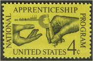1201 4c Apprenticeship F-VF Mint NH Plate Block of 4 1201pb