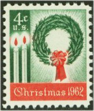 1205 4c Christmas Wreath F-VF Mint NH Plate Block of 4 1205pb