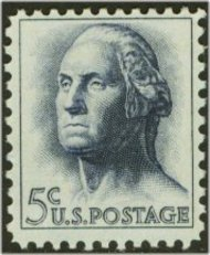 1213 5c George Washington F-VF Mint NH 1213nh