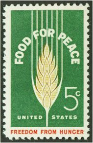 1231 5c Food for Peace F-VF Mint NH 1231nh