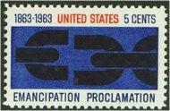 1233 5c Emancipation F-VF Mint NH 1233nh