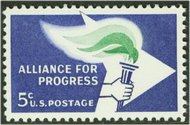 1234 5c Alliance of Progress F-VF Mint NH 1234nh