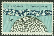 1237 5c The Sciences F-VF Mint NH 1237nh