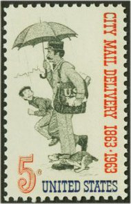1238 5c City Mail Delivery F-VF Mint NH 1238nh