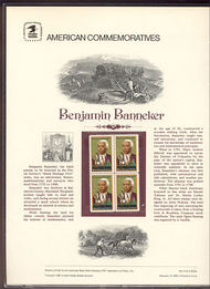 1804 15c Benjamin Banneker USPS Cat. 124  Commemorative Panel cp124