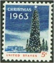 1240 5c Christmas Tree F-VF Mint NH 1240nh