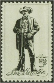 1242 5c Sam Houston F-VF Mint NH 1242nh