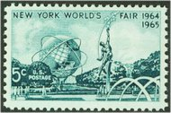 1244 5c N.Y. World's Fair F-VF Mint NH Plate Block of 4 1244pb