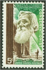 1245 5c John Muir F-VF Mint NH Plate Block of 4 1245pb