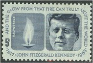 1246 5c John F. Kennedy F-VF Mint NH Plate Block of 4 1246pb