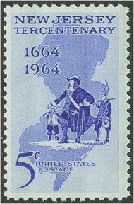 1247 5c New Jersey F-VF Mint NH 1247nh