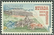 1248 5c Nevada F-VF Mint NH Plate Block of 4 1248pb