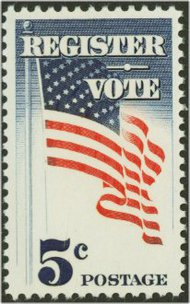 1249 5c Register & Vote F-VF Mint NH Plate Block of 4 1249pb