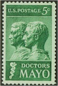 1251 5c Doctors Mayo F-VF Mint NH Plate Block of 4 1251pb