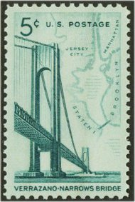 1258 5c Verrazano Bridge F-VF Mint NH Plate Block of 4 1258pb