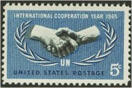 1266 5c Int'l Cooperation Used 1266used