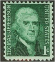 1278 1c Thomas Jefferson Used 1278used