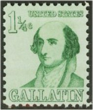 1279 1 1/4c Albert Gallatin F-VF Mint NH Plate Block of 4 1279pb