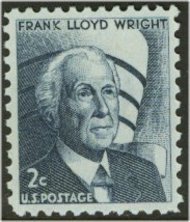 1280 2c Frank Lloyd Wright F-VF Mint NH Plate Block of 4 1280pb