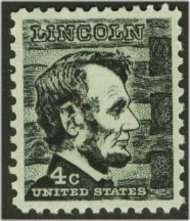 1282 4c Abe Lincoln F-VF Mint NH Plate Block of 4 1282pb