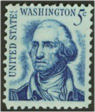 1283 5c Washington, original F-VF Mint NH Plate Block of 4 1283pb