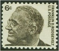 1284 6c F.D. Roosevelt F-VF Mint NH Plate Block of 4 1284pb