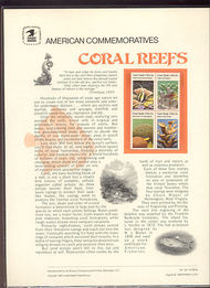 1827-30 15c Coral Reefs USPS Cat. 130 Commemorative Panel cp130