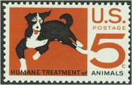 1307 5c Humane to Animals F-VF Mint NH Plate Block of 4 1307pb